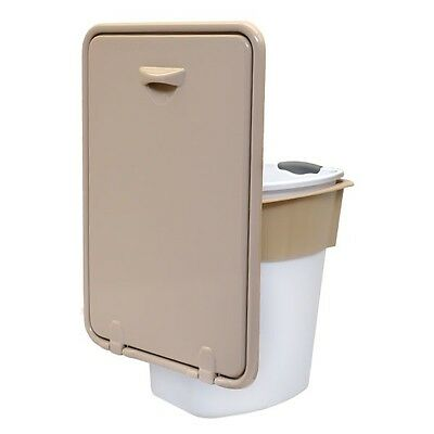 Harris Kayot 44214722 Tan 21 x 14 1/2 Plastic Boat Pull Out Waste Holder w/ Can