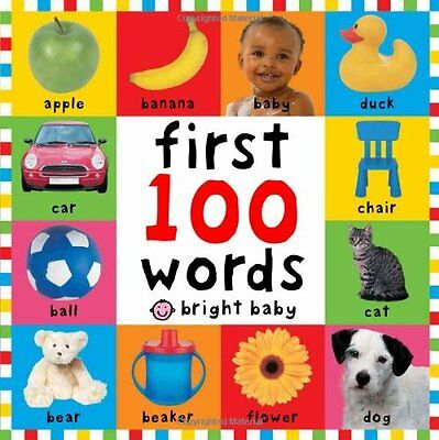 First 100 Words Children Books Early Learning Bright Toddlers Baby Kids Gift New