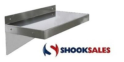 "Omcan 24411 Stainless Steel Wall Shelf 16"" X 60"" Free Shipping NSF"