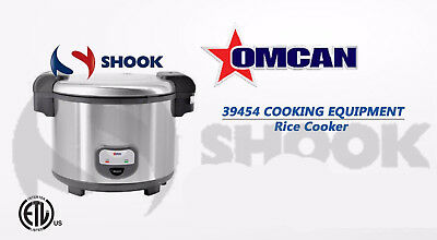Omcan 39454 commercial Rice Cooker 60 Cups Steamer Boiler Cooker Free Shipping