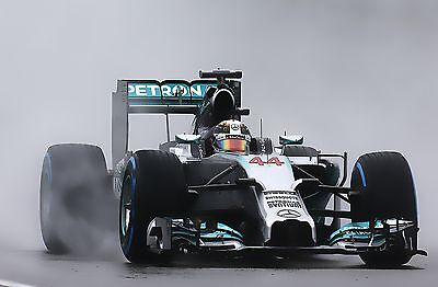 Lewis Hamilton 30x20 Inch Modern Art Canvas Mercedes Framed Picture F1