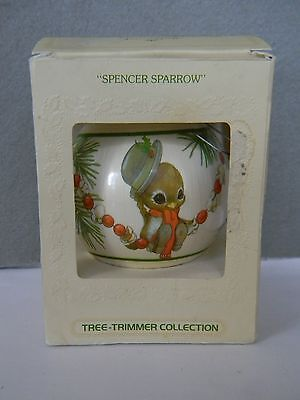 """spencer Sparrow"" - Christmas - Dated 1979 - Hallmark Unbreakable Satin Ornament"