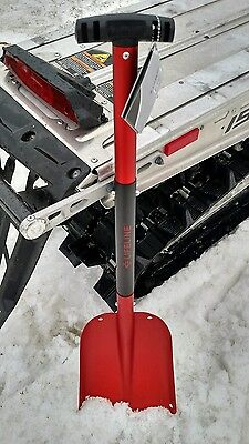Red Aluminum Collapsible Snowmobile Shovel Polaris Yamaha SkiDoo Arctic Cat