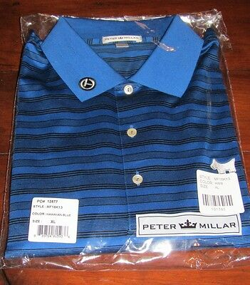 Scotty Cameron, Peter Millar Hurricane Stripe, Hawaiian Blue Polo, XL, BNIP