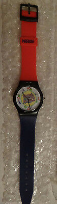 Rare1993 Dennis the Menace Nestle Promo Watch needs battery Red & Black band New