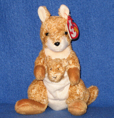b0aa1a63ba6 TY WILLOUGHBY THE KANGAROO BEANIE BABY - MINT with MINT TAGS ...