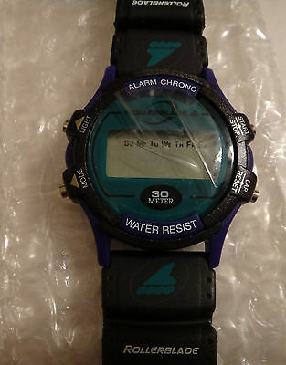 Rare 1996 Quaker Oats Cap'n Crunch Cereal Rollerblade Alarm Chrono Watch New