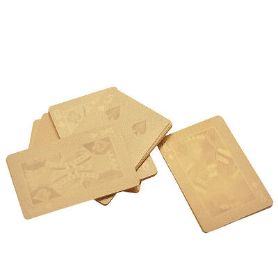 54pcs / 1 Set Playing Cards Gold Foil Plated Poker Casino Deck Collection Pokers