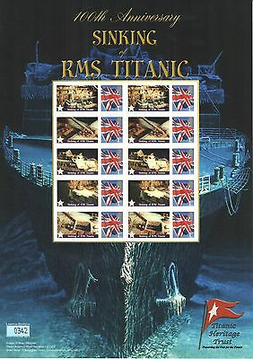 BC-364 2012 Sinking of RMS Titanic Centenary Business Smilers Sheet