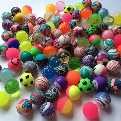 10X Mixed 30mm Bounce Balls Multi-Colored Elastic Juggling Jumping Balls ToyHGUK