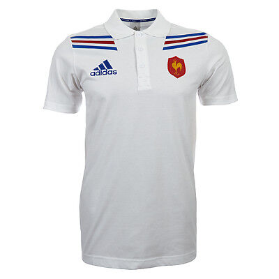 France Rugby men's Polo Shirt Adidas X54371 Polo Shirt France new