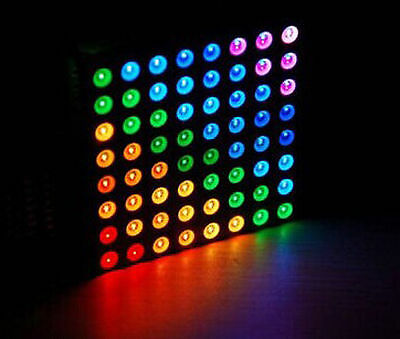 1PCS 5mm 8*8 8x8 Full Colour RGB LED Dot Matrix Display Module Common Anode UK