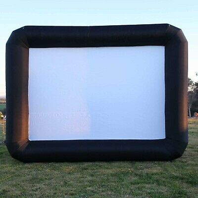 New Movie Screen Inflatable 4m x 3m Giant Outdoor Projector Cinema Party Theatre