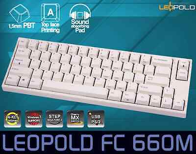 LEOPOLD FC660M MECHANICAL Keyboard Cherry MX Brown PBT White English