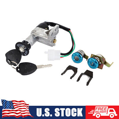Key Switch Ignition Lock for Chinese Scooter 50cc 150cc GY6 Taotao Sunl Jonway
