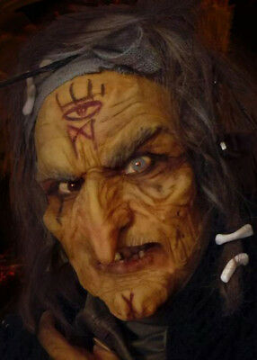 Witch Prosthetic Face Make-Up Application