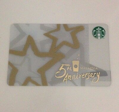 Starbucks Malaysia 2016 5th Anniversary Card Limited Edition With Sleeve