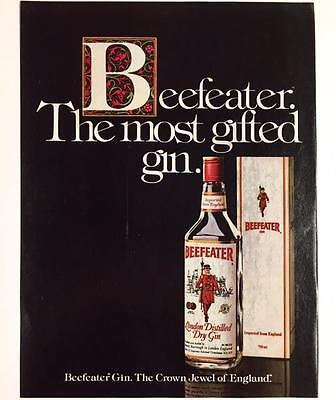 Original 1984 BEEFEATER London Gin Advertisement ~ Full Color Vintage Print Ad