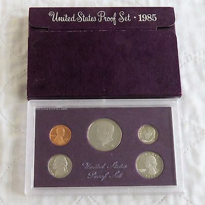 USA 1985 s 5 COIN PROOF YEAR SET - sealed with outer