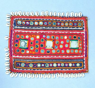 Vintage Kutch Gypsy Banjara Table Cover Tapestry Special Mirror Hand Embroidery