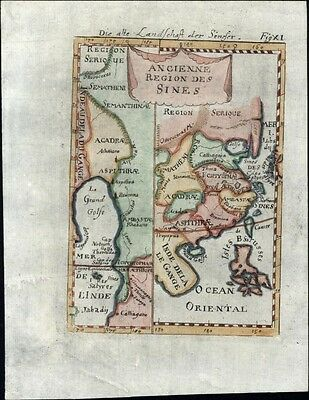China ancient times Southeast Asia 1719 charming antique engraved map