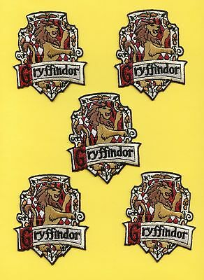 5 Lot Harry Potter Gryffindor Scarf Robe Patches Crests