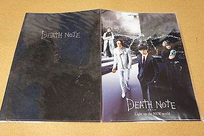 Death Note Light up the NEW world 2016 Movie Official Clear File Folder x2 JAPAN