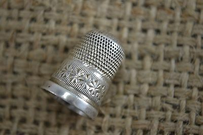 ANTIQUE Charles HORNER sterling silver thimble 8 hallmarked Edwardian