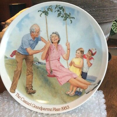 "~~~ 1983 Csatari Grandparent Series ""the Singers"" Collector Plate #a4382 ~~~"