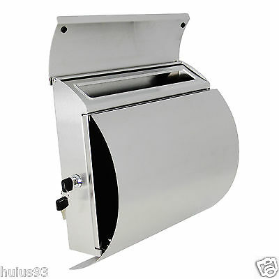 MPB027 New Semi Curve Lockable Mailboxes Stainless Steel Wall Mount Modern Urban