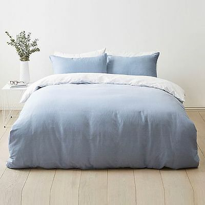 NEW Blue Ombre Quilt Cover Set