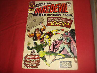 DAREDEVIL #6 Silver Age Marvel Comics 1965 Low Grade G/VG Cheap!