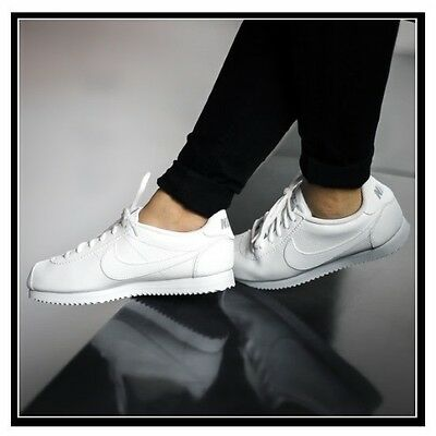 Nike Cortez TRIPLE WHITE Shoes 749502 100 Youth/Womens Sneakers NEW IN THE BOX