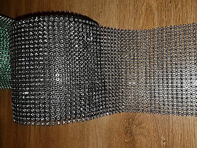 24 Row 1m grey silver Diamonte Crystal Effect Rhinestone Cake Decoration Mesh
