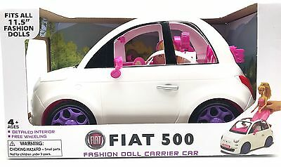 Fiat 500 Fashion Doll Carrier Car Fits All 11.5 Dolls Pink White Purple New