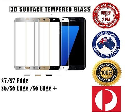 Full Coverage Tempered Glass Screen Protector For Samsung Galaxy S7 EDGE S6 Edge