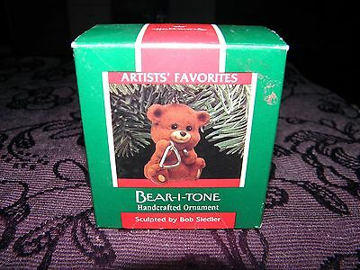 christmas tree decoration, bear-i-tone bear 1989, collectable keepsake