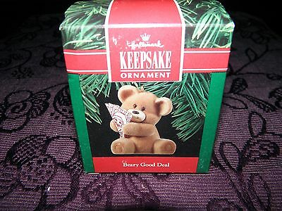 christmas tree decoration, beary good deal bear 1990, collectable keepsake