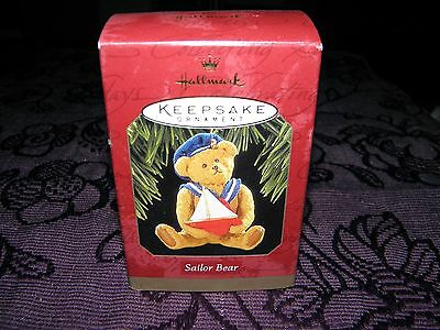 christmas tree decoration, sailor bear 1997, collectable keepsake