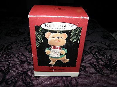 christmas tree decoration, bingo bear 1995, collectable keepsake