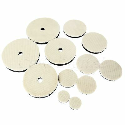 "2Pcs 2""/3""/4""/5""/6""/7"" Woolen Polishing Waxing Buffing Disc Pad for Car Cleaning"