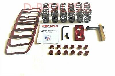 60# Upgraded High RPM Valve Springs Stems w/Tork Tool 89-98 DCEC Cummins 5.9 12V