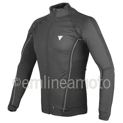 Shirt Moto Dainese D-Core No-Wind Thermo Tee Ls Black/Anthracite  XS/S