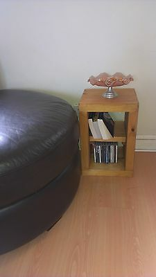 ## Handmade pine or oak wooden bedside / lamp / occasional / coffee / side table