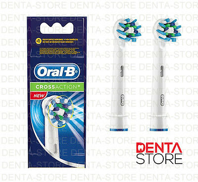 2 x BRAUN ORAL-B REPLACEMENT ELECTRIC TOOTHBRUSH HEADS CROSS ACTION, RAPID POST!
