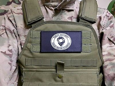 "3x6"" Ghost In The Shell Section 9 Stand Alone Complex Morale Hook Patch Cosplay"