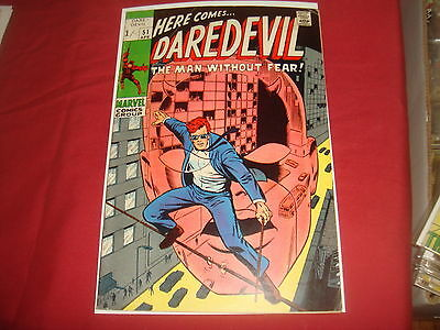DAREDEVIL #51  Silver Age Barry Windsor Smith    Marvel Comics 1969 FN+