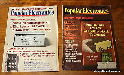 Popular Electronics Altair Cover Issue Jan & Feb 1975 Holy Grail ship worldwide!