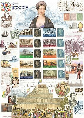 BC-456 2015 Queen Victoria 2 of 6 History of Britain 107 Business Smilers Sheet