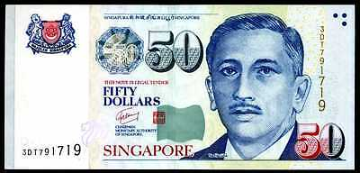 50 DOLLARS P 41  Uncirculated Banknotes ND SINGAPORE 1999  Prefix  3DT